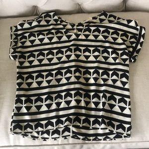 Black/white blouse